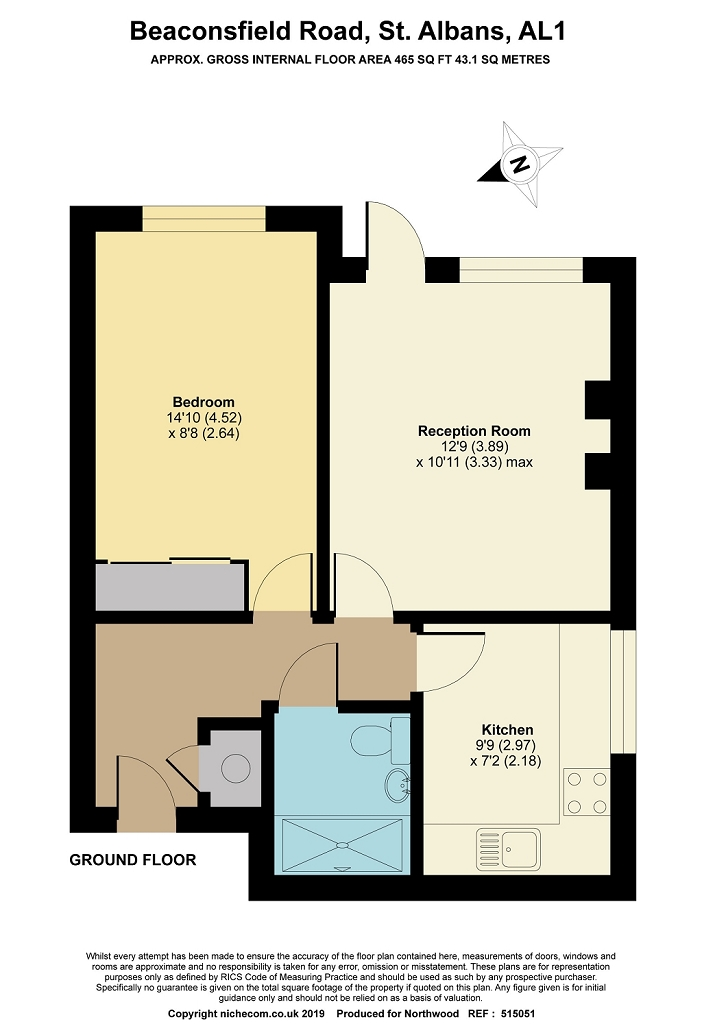 Floorplan for Beacon House, St Albans, AL1