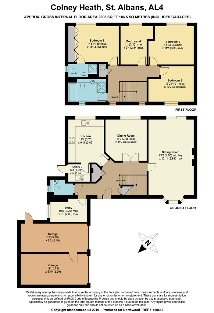 Floorplan for Coopers Gate, Colney Heath, AL4