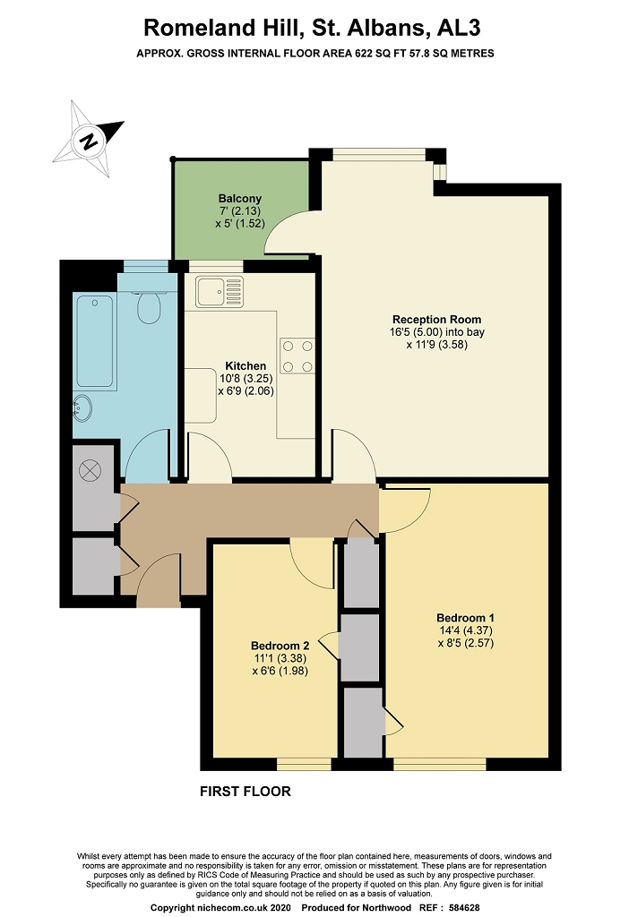 Floorplan for Tankerfield Place, St Albans, AL3