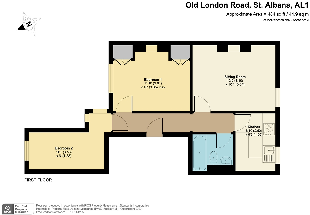Floorplan for Old London Road, St Albans, AL1