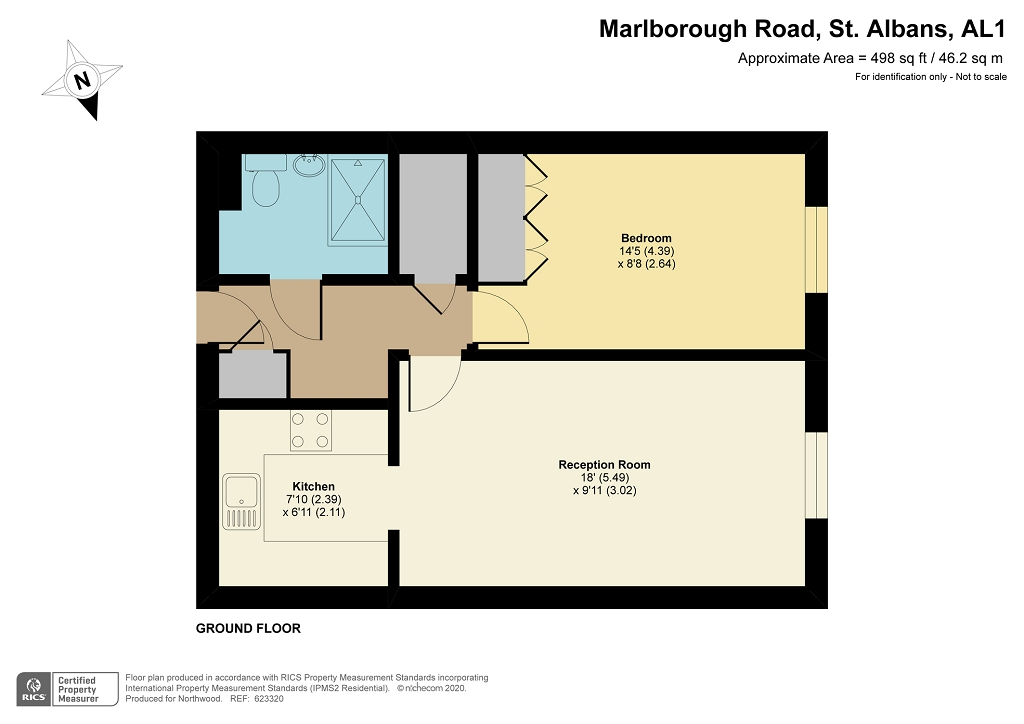 Floorplan for Davis Court, St Albans, AL1