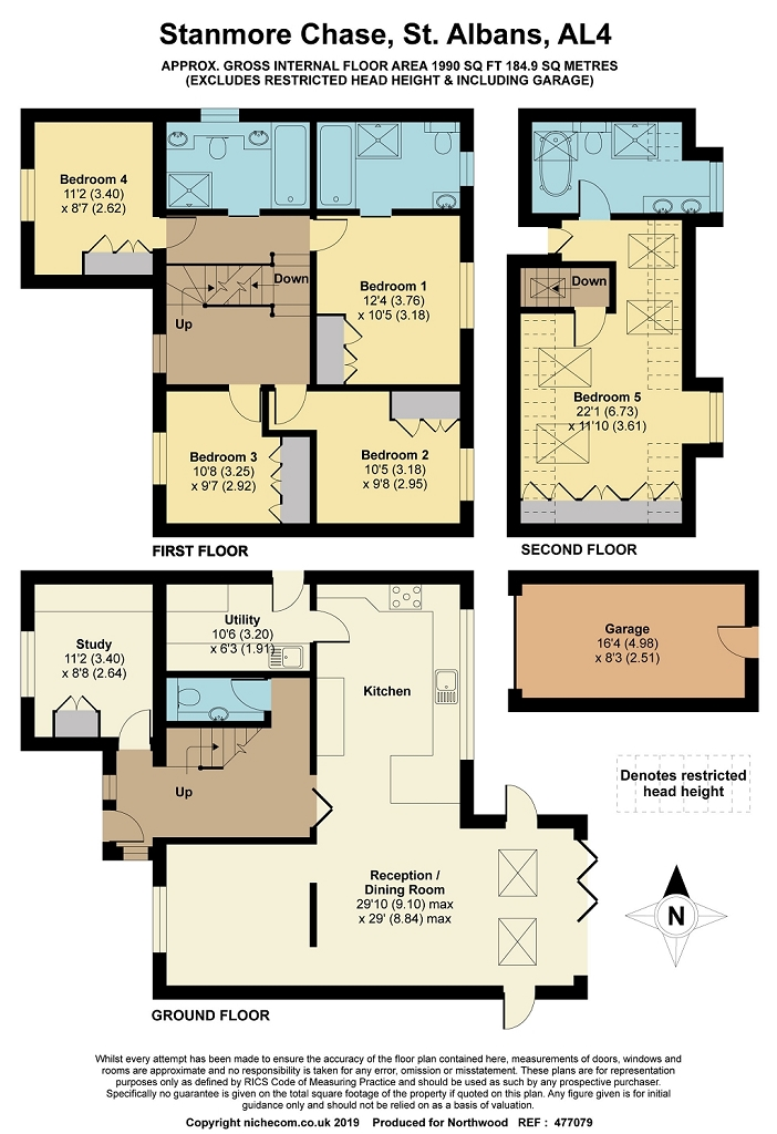 Floorplan for Stanmore Chase, St Albans, AL4